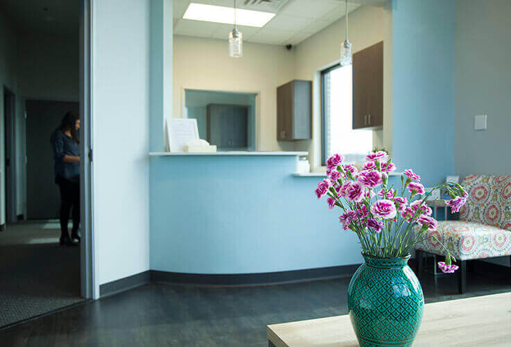 Front desk area at Smile Refined Family Dentistry